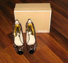 'NIB Michael Kors Sexy Cheetah Calf Hair Peeptoe Heels' is going up for auction at  7pm Thu, Aug 29 with a starting bid of $90.