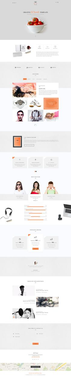 Lal Tomato | One Page Multi-purpose Template on Behance