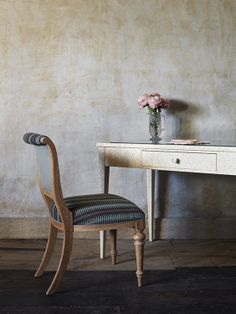 Nina Campbell Sylvia writing table and jennifer chair
