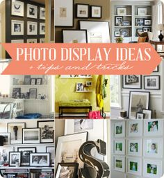The House of Smiths - Home DIY Blog - photo display ideas
