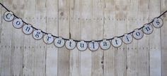 What a fun sign for a travel themed party!! Congratulations travel banner Congratulations by TheColoredDoor