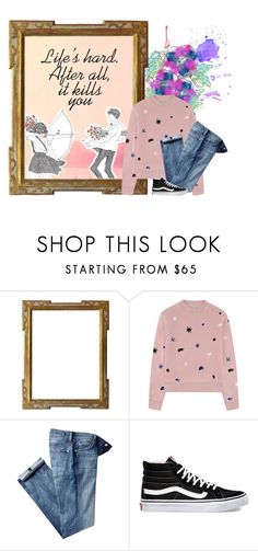 """Life's Hard"" by the-l0st-girl ❤ liked on Polyvore featuring Être Cécile, 7 For All Mankind and Vans"