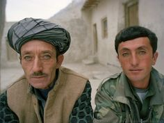 Sardar Khan and Khan Jon (Mookie)..Family relatives of Pir Shah Ismail in Qala-e Pinja..Winter expedition through the Wakhan Corridor and into the Afghan Pamir mountains, to document the life of the Afghan Kyrgyz tribe. January/February 2008. Afghanistan