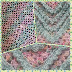 Another version of Corner to Corner Baby blanket.  Free pattern from Bernat