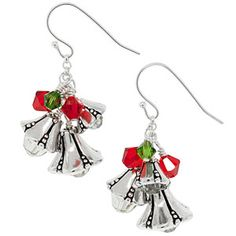 Jingle Bells Earrings | Fusion Beads Inspiration Gallery--------------thinking about the holidays  :) Jingle Bells, Jewelry Collection, Beaded Jewelry, Bead Jewelry, Pearl Jewelry