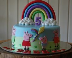 Peppa Pig By midgysquidgy on CakeCentral.com Love Peppa Pig!