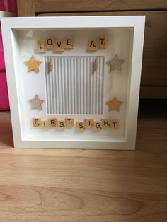 New baby/scan photo frame by MamasLittleGiftShop on Etsy