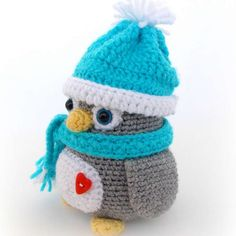 http://wixxl.com/chubby-penguin-hat-scarf/ Chubby Penguin with Hat and Scarf