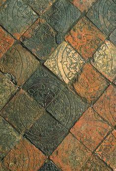 "Medieval floor tiles source: ""Builders and Decorators: Medieval Craftsmen in W. Medieval floor til Tile Patterns, Textures Patterns, Medieval Life, Tiles Texture, Paving Texture, Theme Color, Colour, Wall And Floor Tiles, Wall Tiles"