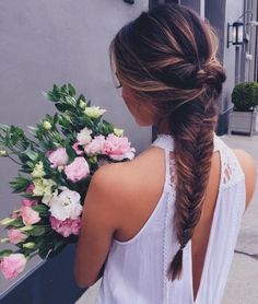 Product: Straight Full Head Synthetic Hair Extensions Clip on Clip in Hairpieces. The Product are made from Korean High Quality Synthetic Hair Cool Braid Hairstyles, Summer Hairstyles, Up Hairstyles, Wedding Hairstyles, Bridesmaid Hair, Prom Hair, Fishtail Braid Wedding, Beehive Hair, Hair Dos