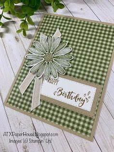 ATXPaperHouse: Case it up Tuesday! - Cards with daisy - Brightday Birthday Cards For Women, Handmade Birthday Cards, Happy Birthday Cards, Birthday Greeting Cards, Greeting Cards Handmade, Female Birthday Cards, Happy Birthdays, Card Birthday, Diy Birthday