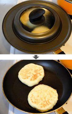 捏ね・発酵不要 フライパンで焼くハムチーズパン