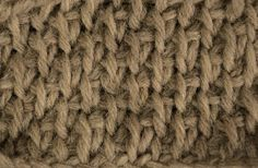 "Tunisian Crochet: Honeycomb ""Chicken Scratch"" using alternating Tss / Tks (Tunisian Simple Stitch and Tunisian Knit Stitch). Makes a flatter, more subtle honeycomb pattern that has more ""drape"" to it."