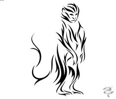 d8cfe23e919da Tribal Tattoos and Designs : Page 35. Tattoomaze · Chinese Monkey Tattoo  Outline