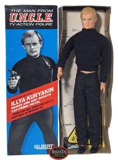 David McCallum as Illya Kuryakin in The Man from U.N.C.L.E. Action Figure by Gilbert, 1965