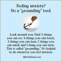 "Feeling anxiety? Do a ""grounding"" tool"