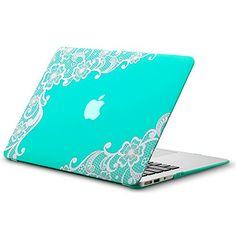 "Kuzy - AIR 13-inch Lace TEAL Hot BLUE Rubberized Hard Case for MacBook Air 13.3"" (A1466 & A1369) (NEWEST VERSION) Shell Cover - Lace TEAL Kuzy http://www.amazon.com/dp/B00O5L3F52/ref=cm_sw_r_pi_dp_ZA-yub0F9RPR3"