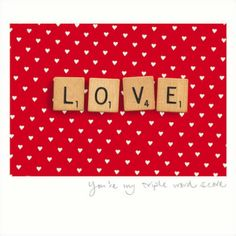 """""""Spell it out"""" #Valentine's Card from Woodmansterne.  The greeting inside reads """"Happy Valentine's Day"""""""