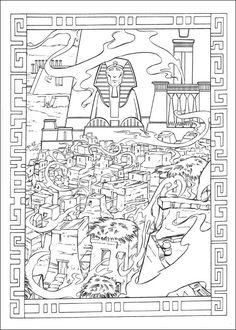 Prins van Egypte kleurplaat
