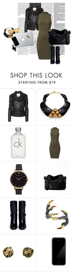 """High neck dress"" by nastiarl on Polyvore featuring moda, Surface To Air, Nest, Calvin Klein, Olivia Burton, Jimmy Choo, Tessa Metcalfe, Kamryn Dame, Squair y Linda Farrow"