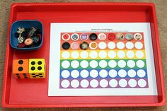 15+ ideas for using do-a-dot printables to help kids learn: play a dice game #DoADot #handsonlearning || Gift of Curiosity