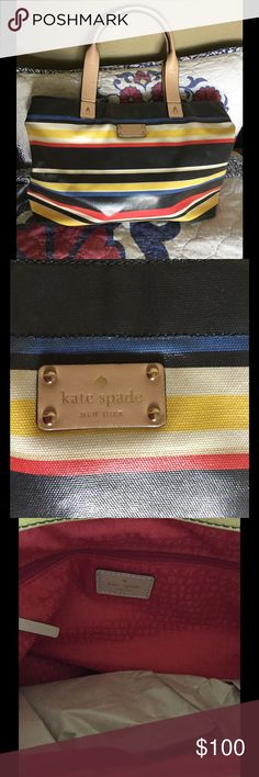 SALE🎉Kate Spade ♠️ 🎉New York Stripe Westchester EUC. Preloved. Shoulder bag/tote kate spade Bags Totes