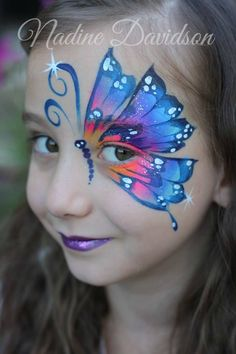 Face Painting for your child's birthday party or special event - Face Painting Calgary, Nadine's Dreams Face Painting Princess Face Painting, Girl Face Painting, Face Painting Tips, Body Painting, Face Paintings, Butterfly Face Paint, Butterfly Makeup, Easy Face Painting Designs, Maquillaje Halloween