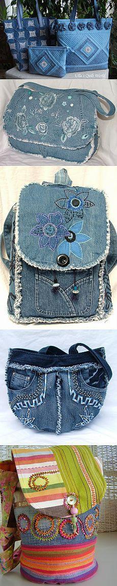 Красивые  джинсовые сумки
