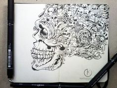 http://www.designerd.com.br/a-incrivel-doodle-art-de-kerby-rosanes/