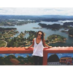 It took a plane, a bus, a tuk tuk and 700 stairs to this view, but I have to say, it was absolutely worth it  #travelpix #colombia #medellin #guatape