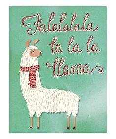 'Falalalala' Llama Greeting Card - Set of 12 by Punch Studio on #zulily today!