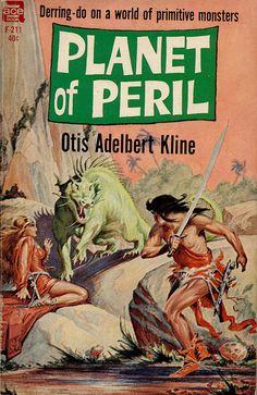 scificovers:  Planet of Peril by Otis Adelbert Kline...