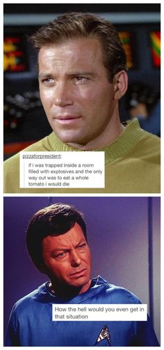 STTOS I was asking myself the same thing xD Star Trek Tos, Star Wars, Stark Trek, Star Trek Original, Starship Enterprise, Love Stars, Spock, Hilarious, Funny