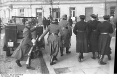 Occupied Poland, 1941: Polish police and German Order Police begin a raid to find and arrest Jews in Krakow. The Polish police gained the reputation of collaborating with the Germans on many occasions, particularly in capturing Jews.