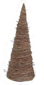 Grapevine Trees are made of natural grapevines from the beautiful rolling hills of Tennessee 36 tall with a 13 Bottom. Great for display on small tables as centerpieces or mantle.