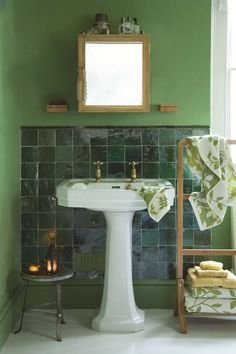 emerald green tile | Why not add colour to a bathroom with emerald green tiles?