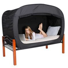 A bed tent for when you need to hide from the world (or your roommate) for a bit.   21 Absurdly Awesome Gifts Every College Student Should Ask For