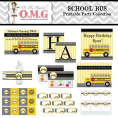 School Bus Party Collection Package by Oh by LittleAshwellHouse