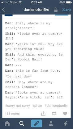 Funny. #danisnotonfire #amazingphil  This just happened between me and a friend. : )