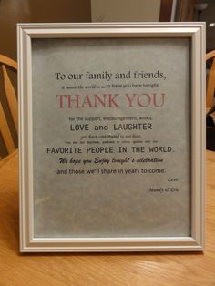 This is a must for the guestbook/card table :)