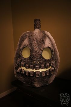 Large Paper Clay Pumpkin! His name is Two and he's part of a trio.