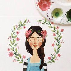 Ilustração em aquarela - Luiza Alcântara;