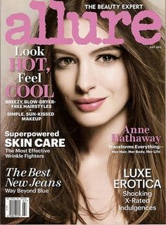 Allure Magazine, Anne Hathaway,Luxe Erotica, Skin Care, best jeans,July 2012~NEW