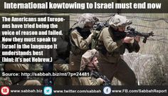 International kowtowing to Israel must end now - Sabbah Report
