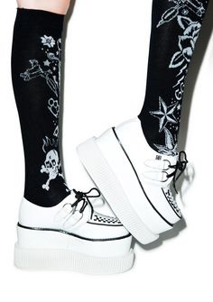 T.U.K. Double Stacked Leather Viva Mondo Creeper | Dolls Kill