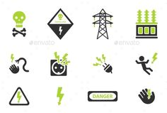 High Voltage Simply Icons - Icons