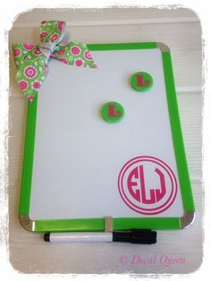 Personalized Magnetic Dry Erase Board $14.00