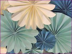 Paper Accordion Rosettes based off Martha Stewart Tutorial
