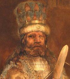 Rembrandt van Rijn: The Conspiracy of the Batavians under Claudius Civilis, circa 1661-1662 (detail)