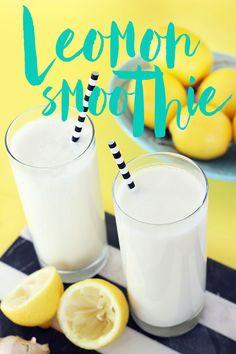 lemon ginger yogurt smoothie recipe by The Sweet Escape
